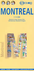 mappa di città Montreal - mappa plastificata