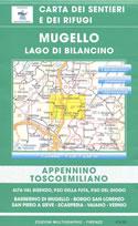 mappa n.27 Mugello, Lago di Bilancino, Passo Futa, Scarperia, S.Piero a Sieve, Barberino Vaiano, Vernio