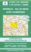 mappa topografica n.30 - Mugello, Val di Sieve, Alto Casentino - con Monte Falterona, Passo del Muraglione, Dicomano, Londa, Pratovecchio, Rufina, S.Godenzo, Stia, Vicchio