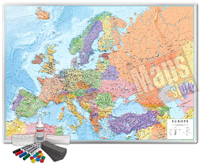 mappa Murale Magnetica Europa