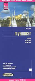 mappa Myanmar / Burma (Birmania) impermeabile e antistrappo