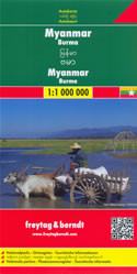 mappa Myanmar / Burma Birmania con Naypyidaw, Yangon/Rangoon, Mandalay, Bagan, Pegu, Moulmein, Sagaing, Tavoy/Dawei, Pathein, Taunggyi
