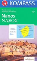 mappa topografica n.246 - Naxos (Grecia) - con coordinate per sistemi GPS - nuova edizione