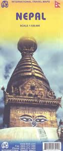 mappa Nepal con Kathmandu