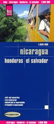 mappa Nicaragua, Honduras e El Salvador impermeabile antistrappo