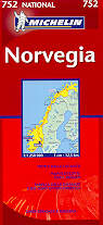 mappa stradale 752 - Norvegia