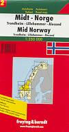 mappa stradale N. 2 - Norvegia Centro - Alesund, Lillehammer, Trondheim
