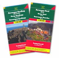 mappa stradale Norvegia Centro-Nord - 2 mappe stradali - con Steinkjer, Namsos, Fauske, Narvik, Hammerfest, Capo Nord - edizione 2013