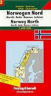 mappa stradale N. 3 - Norvegia Nord - Namsos, Bodo, Narvik, Lofoten