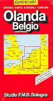 mappa stradale Olanda, Belgio e Lussemburgo (Benelux) - edizione 2013