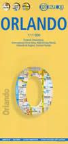 mappa di città Orlando - mappa plastificata / laminated