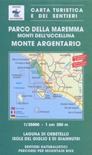 mappa topografica n.504 - Parco della Maremma, Monti dell' Uccellina, Monte Argentario, Talamone, Orbetello, Isola del Giglio, Giannutri