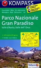 mappa n.86 Parco Nazionale del Gran Paradiso, Valle d' Aosta, dell'Orco, Val di Rhêmes, Valgrisenche, Valsavarenche, d'Isère, Ceresole Reale, Ronco Canavese, Locana, Valprato Soana, Punta Tersiva plastificata, compatibile con GPS