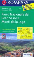 mappa n.2476 Parco Nazionale del Gran Sasso, Monti Laga, Ascoli Piceno, Teramo, Sibillini, Norcia, M. Gorzano, L'Aquila, Corno Grande, Castel Monte, Civitella Tronto compatibile con GPS