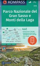 mappa n.2476 Parco Nazionale del Gran Sasso, Monti Laga, Ascoli Piceno, Teramo, Sibillini, Norcia, M. Gorzano, L'Aquila, Corno Grande, Castel Monte, Civitella Tronto compatibile con GPS 2020