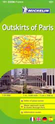 mappa stradale n.101 - Periferia di Parigi (con aeroporto di Charles de Gaulle, Paris Orly e dintorni di Cergy-Pontoise, Limours, Senart, Sarcelles)