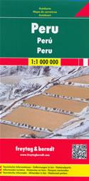 mappa stradale Peru - con Lima, Arequipa, Trujillo, Chiclayo, Piura, Iquitos, Cuzco, Chimbote, Huancayo, Tacna, Nazca, Sullana - edizione 2020