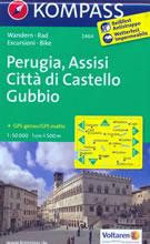 mappa n.2464 Perugia, Assisi, Città di Castello, Gubbio, M. Urbino, Umbertide, il Cerrone, Pantano, Magione, Bastia Umbra, Cagli compatibile con GPS