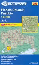 mappa n.056 Piccole Dolomiti, Pasubio, Recoaro Terme, Monti Lessini, Ronchi, Vallarsa, Val Lagarina, Posina, Tonezza, Schio, Valdagno, Catena Tre Croci, Carega, Giazza compatibile con GPS