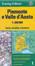 mappa Piemonte, Valle d'Aosta stradale