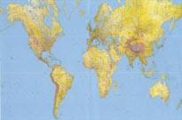 mappa murale Planisfero Fisico-Politico, in 12 fogli, Formato Gigante 400x200cm