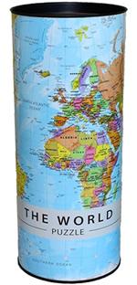 mappa Planisfero Puzzle (da 1000 pezzi) il regalo ideale per imparare la geografia in modo divertente con cartografia aggiornata di alta qualità 68 x 48 cm