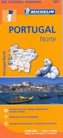 mappa stradale n.591 - Portogallo del Nord - con Braga, Porto, Aveiro, Viseu, Guarda, Miranda do Douro, Chaves - edizione 2013