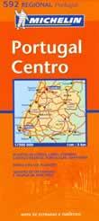 mappa stradale n.592 - Portogallo centrale - con Coimbra, Lisboa/Lisbona, Leiria, Castelo Branco, Portalegre, Santarem, Fatima