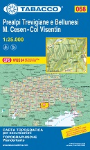 mappa Prealpi Trevigiane Bellunesi