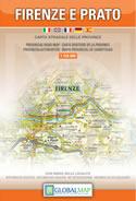 mappa Provincia di Firenze e Prato con i Monti Calvana, Barberino Mugello, Borgo S. Lorenzo, il Chianti, San Gimignano, Parco Nazionale Foreste Casentinesi