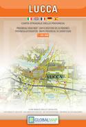 mappa Provincia di Lucca con le Alpi Apuane, Garfagnana, Barga, Orecchiella, Lamarossa, Fivizzano, Viareggio
