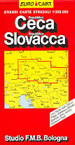 mappa stradale Repubblica Ceca e Repubblica Slovacca