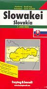 mappa stradale Repubblica Slovacca \ Slovacchia \ Slowakei \ Slovakia