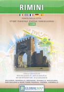 mappa di città Rimini - con Bellariva, Marebello, Miramare, Rivabella, Rivazzurra, San Giuliano a Mare, Torre Pedrera, Viserba, Viserbella - edizione 2018