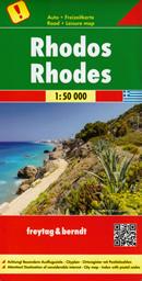 mappa Rodi Rhodos / Rhodes con isole di Symi, Halki, Alimia 2022