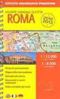 mappa Roma con EUR e Città del Vaticano atlantino a spirale