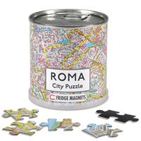 mappa Roma City Puzzle di città in formato da 100 pezzi magnetici dimensione totale 26 x 35 cm