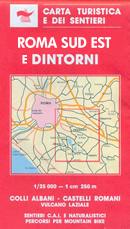 mappa Roma e con Colli Albani, Castelli Romani, Vulcano Laziale
