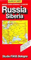 mappa Russia Europea con Crimea, Georgia, Armenia e Asiatica Siberia