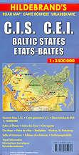 mappa stradale C.I.S. - Russia Europea, Stati Baltici e Georgia