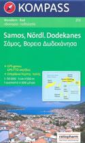 mappa topografica n.253 - Samos, Ikaria, Fourni, Arki, Patmos, Lipsi (isole della Grecia) - mappa escursionistica, plastificata, con spiagge, percorsi per il trekking, luoghi panoramici e parchi naturali - compatibile con GPS - nuova edizione