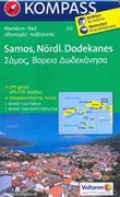 mappa n.253 Samos, Ikaria, Fourni, Arki, Patmos, Lipsi (isole Grecia) escursionistica, plastificata, con spiagge, percorsi per il trekking, luoghi panoramici e parchi naturali compatibile GPS