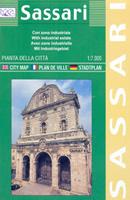mappa di città Sassari - mappa di città