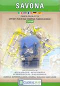 mappa Savona di città con ingrandimento del storico e dei