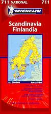 mappa stradale 711 - Scandinavia, Finlandia