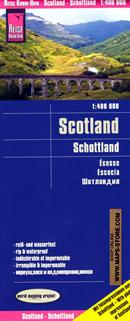 mappa Scozia con Edinburgo/Edinburgh, Glasgow, Newcastle, Belfast, Isole Shetland, Orkney Islands, Isola di Lewis