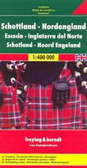 mappa stradale Scozia e Inghilterra del Nord - con Thurso, Aberdeen, Edinburgo/Edinburgh, Glasgow, Newcastle, Belfast - edizione 2013