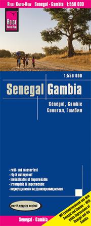 mappa Senegal e Gambia impermeabile antistrappo