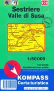 Bardonecchia Cartina Geografica.Mappa Topografica N 109 Sestriere Valle Di Susa Con Perrero Bardonecchia Bussoleno Fenestrelle