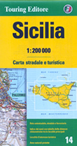 mappa Sicilia stradale con distanze stradali, percorsi panoramici